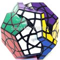 Plástico Cubo Mágico Dodecaedro Mf8 Curvy Starminx Preto Venda Quente Twisty Cérebro Teaser de Puzzle Brinquedo cubo magico