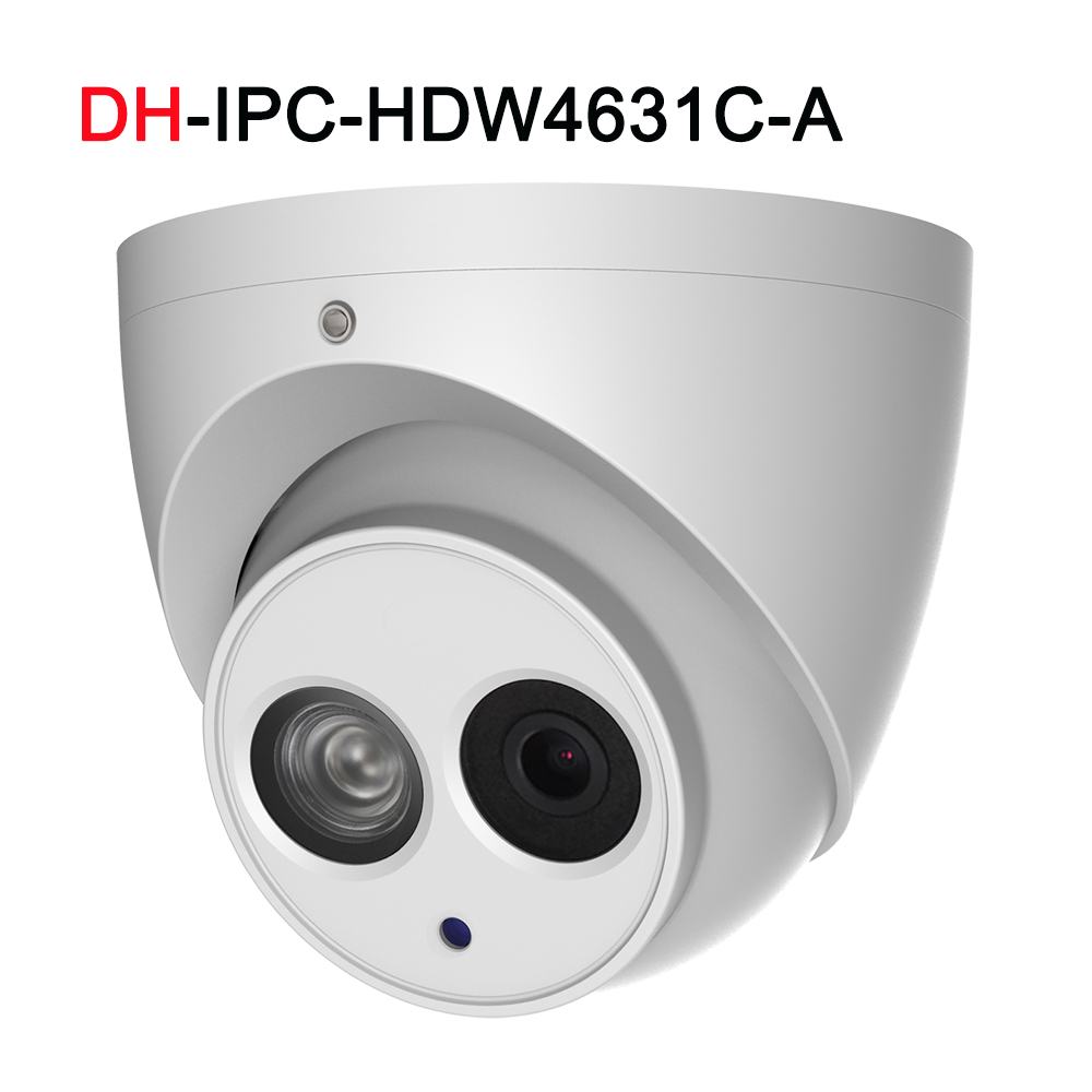 DH IP Camera IPC HDW4631C A with POE Dome Build in Mic IP67 Network 6MP IR30M