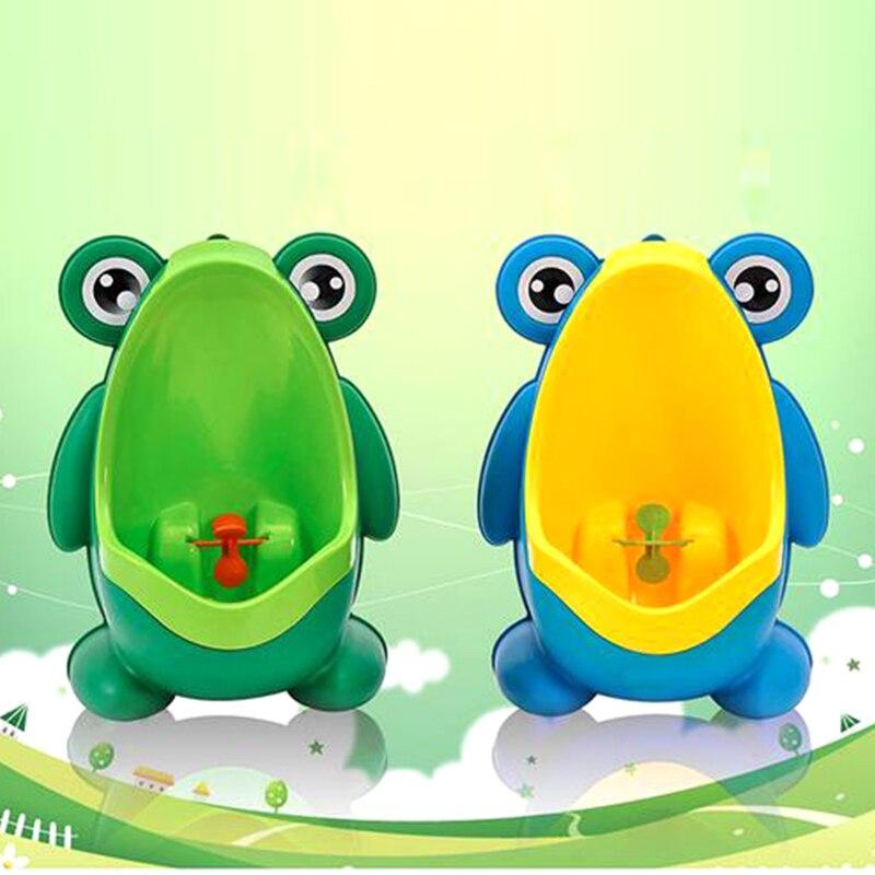 Nova Chegada Do Bebê Menino Sapo Crianças Potty Training Wc Suporte Vertical Meninos Mictório Xixi Penico Infantil Criança de Parede-Montado