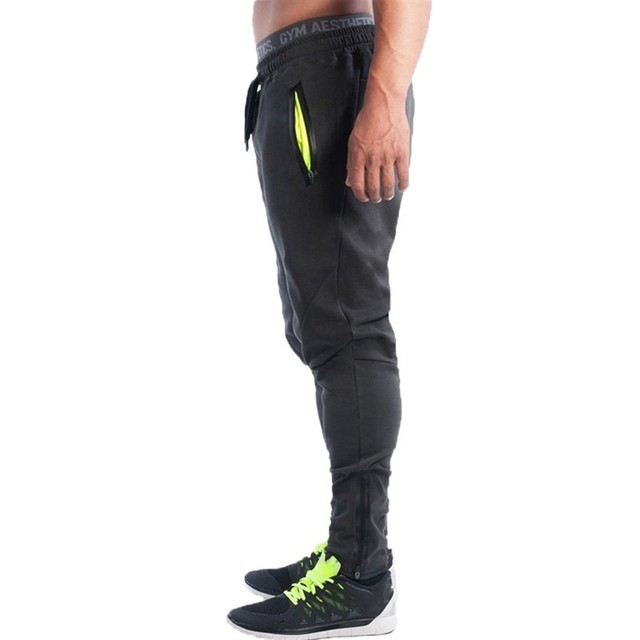 2016 New Fashion Men's GASP&GOLDS  Pants,Elastic cotton Male Fitness Workout Pants,Sweatpants Trousers Jogger Pants
