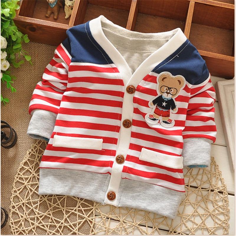 New Autumn spring Boys Girls outwear sweaters cartoon bear Baby Cardigan Sweater Knit Children Clothing