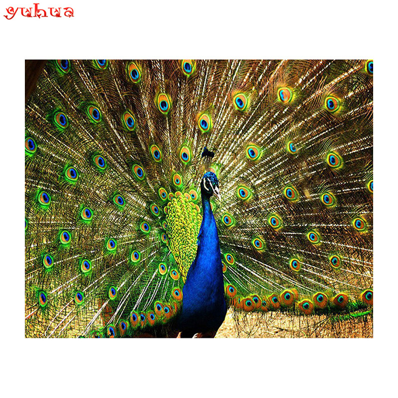 Animal Peacock 5D DIY Diamond Painting full drill Wedding Home decor Cross Stitch Mosaic Diamond Embroidery picture