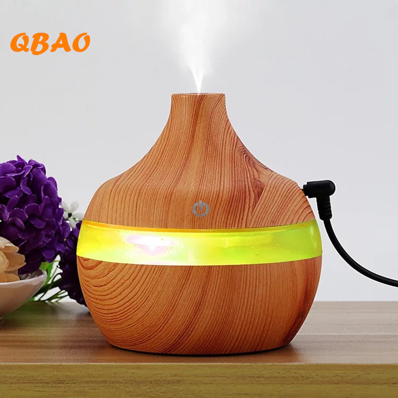 Essential Oil Diffuse Humidifier 5V USB 300ml Aromatherapy Mist Maker Aroma Oil Diffuser for Home Office thankshar usb lemon aroma diffuser umidificador aromatherapy for car essential oil diffuse portable mini humidifier for home