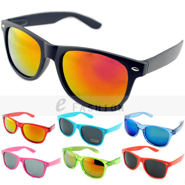 Hot Sale! 2015 Fashion New Goggles Unisex New 80s Style Joint Multi-coloured Summer Shade UV400 Sunglasses 120-0001