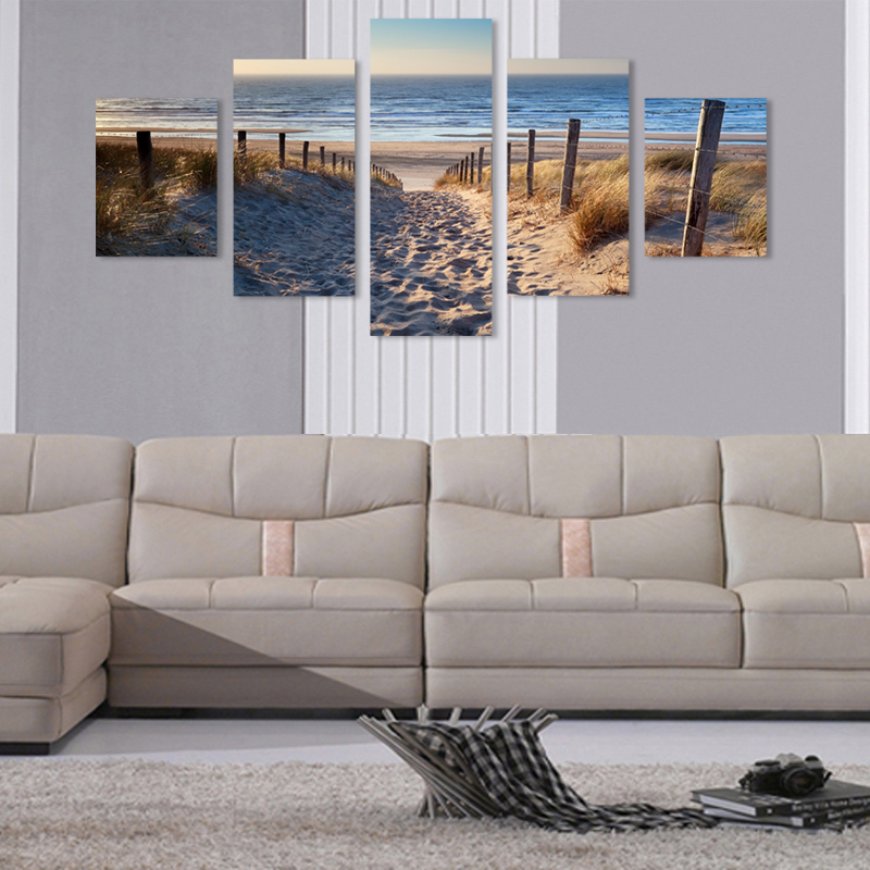 framed beach prints