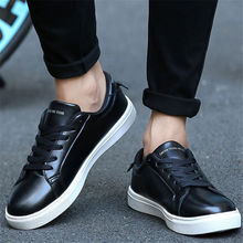 Men shoes new 2017 fashion casual Walking shoes couple Flat white shoes PU big yards tenis femininozapatillas deportivas hombre