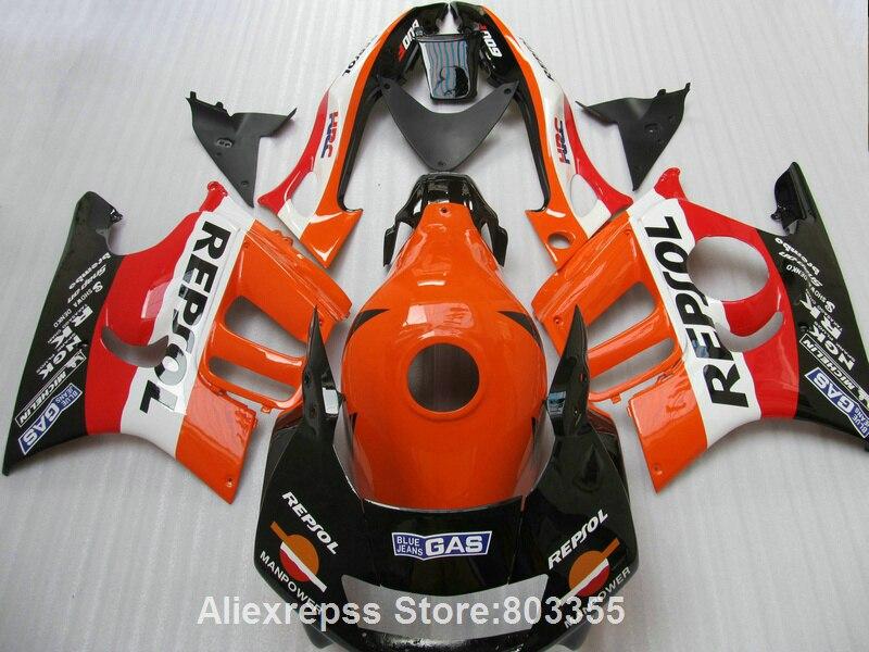 Style kits pour Honda CBR 600 f3 1995/1996 Carénages cbr 600 (repsol Orange) carénage kit 95 96 xl84