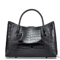 Cestbeau crocodile belly lady handbag natural crocodile texture real leather European fashion new shopping bag mother women bag