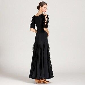 Image 3 - 女性社交ドレスワルツダンスドレスフォックストロットダンスドレススペインフラメンコドレスダンスブラックダンスの服標準ドレス