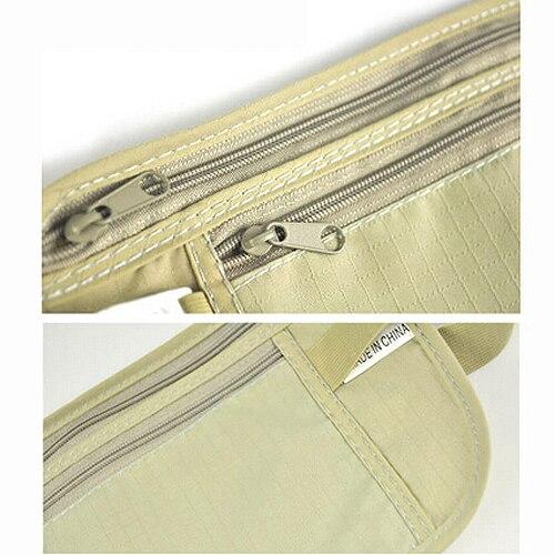 Wholesale 5pcs ( Money Travel Waist Belt Zipped Pas Wallet Pouch Bum Bag Security-Khaki