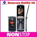 Открынный Origina V8 мобильного телефона Motorola 2.2 дюймов камеры 2.0MP Bluetooth ROM 2 ГБ V8 мобильный телефон