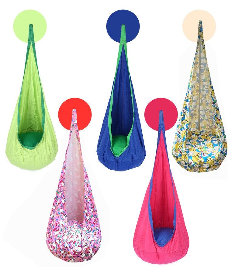 Baby Swing Sleeping Bag Children Pod Hammock Kids Indoor Outdoor Hanging Chair Adult Cotton Hanging Nest