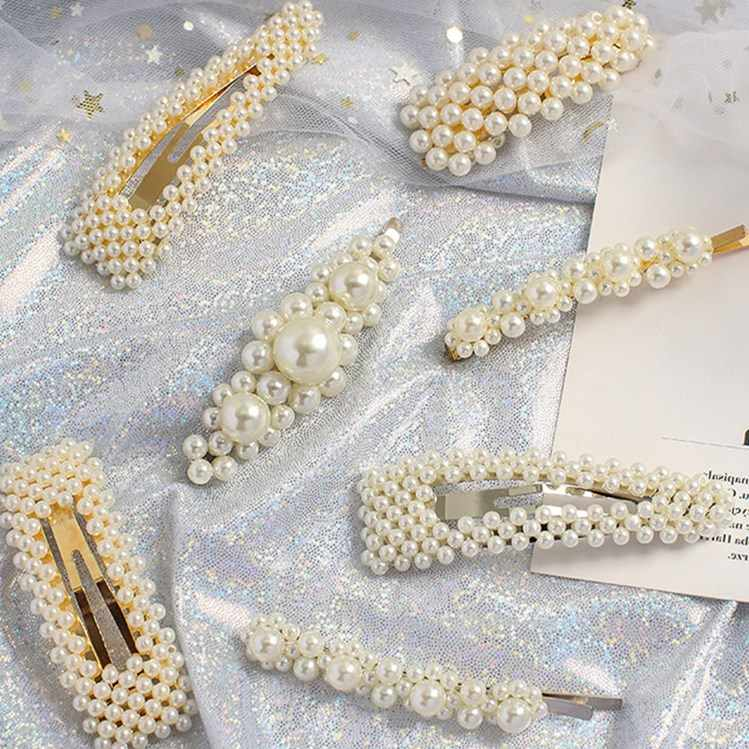 Lovely Pearl Wedding Hair Jewelry Charm Bridal Hair Combs Women Party Hairpins Wedding Hair Accessories Jewelry