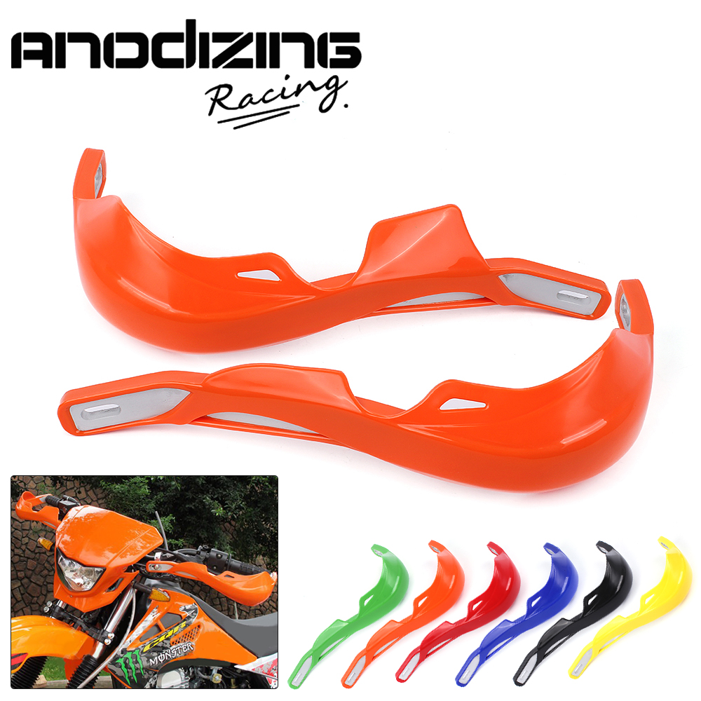 22mm Plastic Alloy Insert Pit Dirt Bike Motorcycle Motocross Handguard Protector Protection Handlebar Hand Guards hg 016 bl motorcycle motocross dirt bike handlebar handguards hand guards fit 7 8 22mm handlebars free shipping