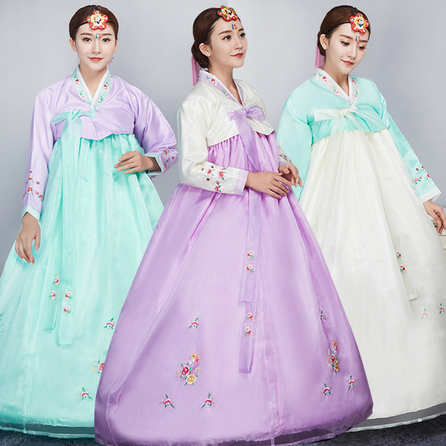 73f8c5bd30131 US $28.49 45% OFF|New Year Korean Traditional Korean Hanbok Female Palace  Korean Hanbok Dress Ethnic Minority Dance Stage Costume-in Asia & Pacific  ...