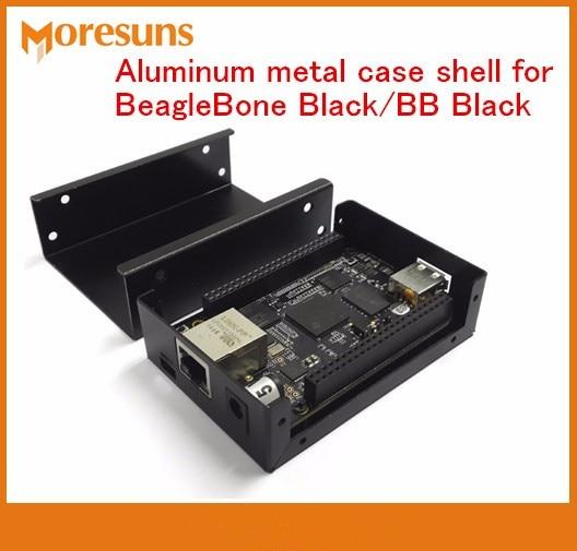 Fast Free Ship 5pcs/lot BB Black Aluminium Alloy Housing 90mm*64mm*26mm Aluminum Metal Case Shell For BeagleBone Black
