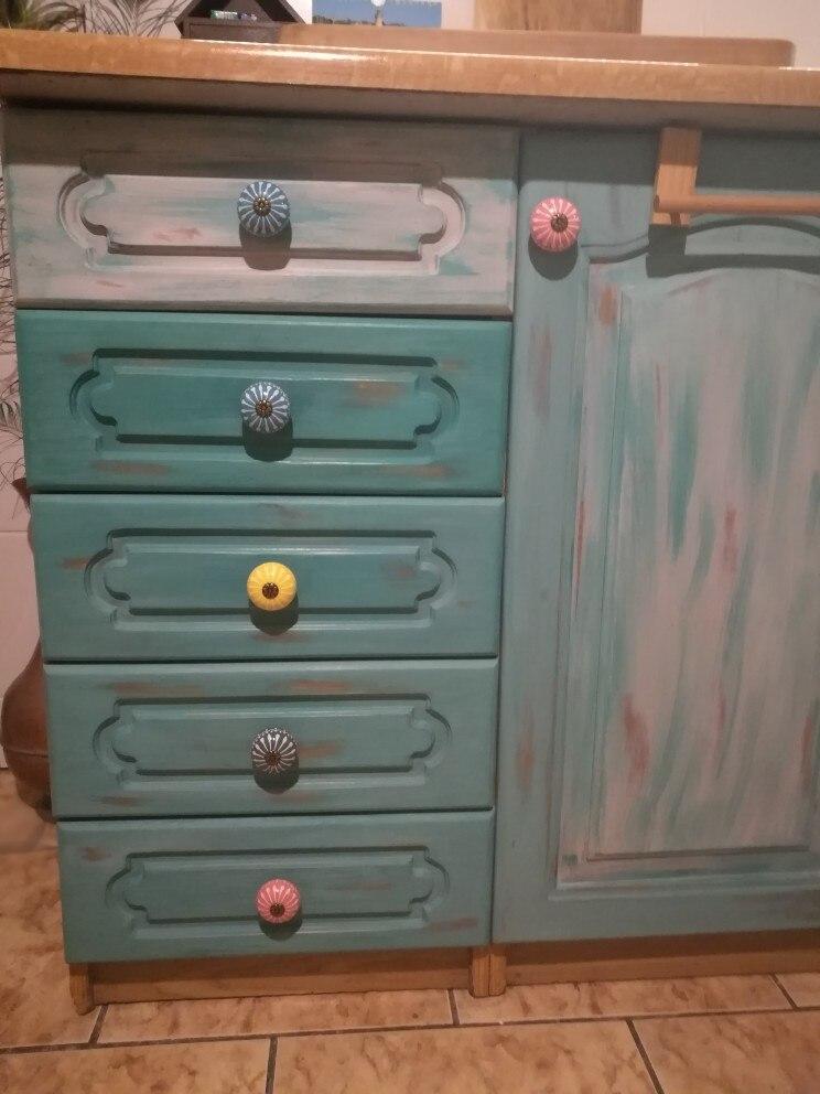 Керамическая ручка/ручки для комода белого и синего цвета, ручки для шкафа/уникальная ручка для кухонной двери, мебельная фурнитура