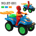 Children pull string line toy Spiderman cable racing car Baby diecast and toy vehicle plastic model car kids gifts