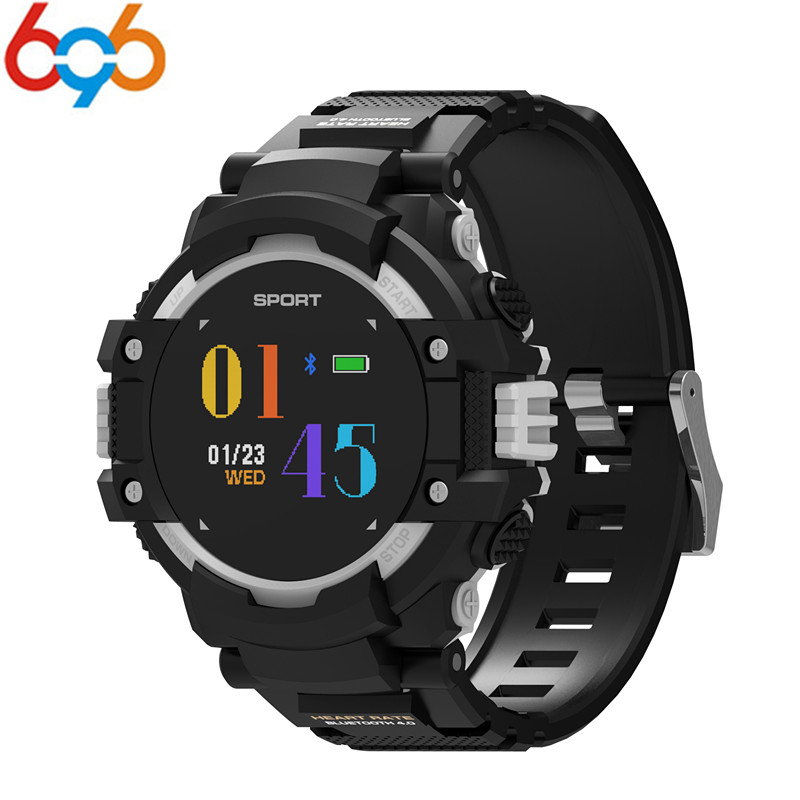 696 GPS smartwatch F7 with heart rate monitor compass altitude barometer IP67 waterproof smart watch for iOS android PK L19 y1 y цена