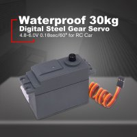 Waterproof Digital Metal Gear Servo 4.8 6.0V 0.18 0.01sec/60 30kg Large Torque for 1/5 Redcat HPI Monster Truck RC Car