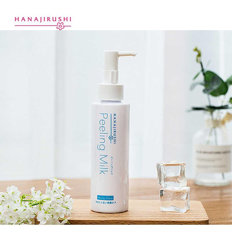 Hanajirushi corpo facial esfoliante creme peeling emulsão de leite esfoliante pele polonês remover a pele morta célula da pele pele de umidade tesão 120ml