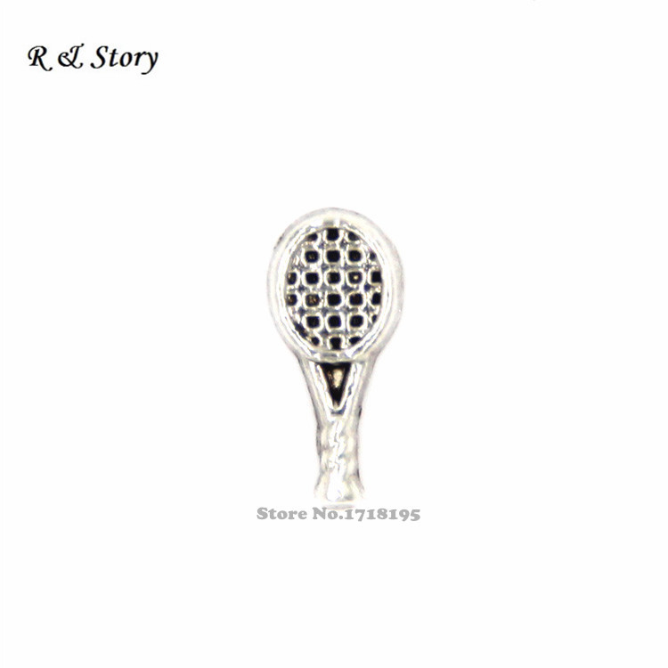 Tennis Racquet Floating Charms for Floating Locket-Tennis Player Charm-Gift Idea LFC_1335