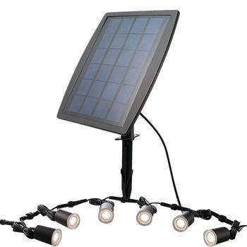 6 pcs In Acciaio Inox Impermeabile LED Spotlight Solare Deck Illuminazione Esterna del Giardino di Paesaggio Cortile Con Giardino Luce HA CONDOTTO LA Lampadina Kit