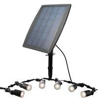 6pcs Stainless Steel Waterproof LED Solar Spotlight Deck Lighting Outdoor Landscape Garden Courtyard Garden Light LED Bulb Kit