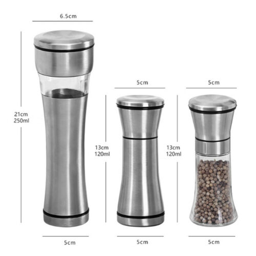 New Stainless Manual Salt Pepper Mill Spice Grinder Muller Seasoning Kitchen Tools Gadgets in Mills from Home Garden