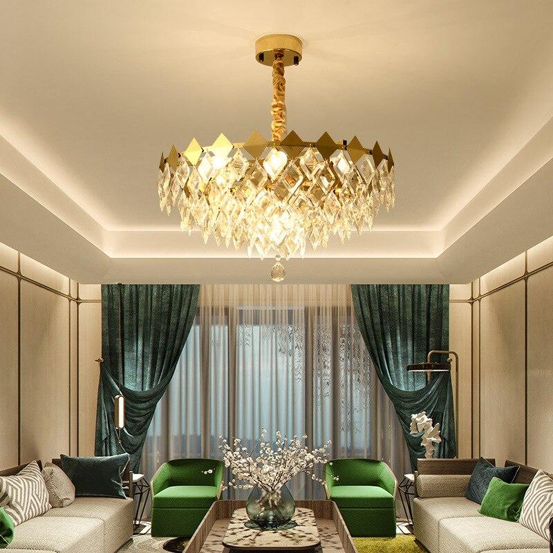 Pendentif LED de luxe lumières salon lampes suspendues luminaires de chambre luminaires de salle à manger nordique éclairage suspendu en cristal