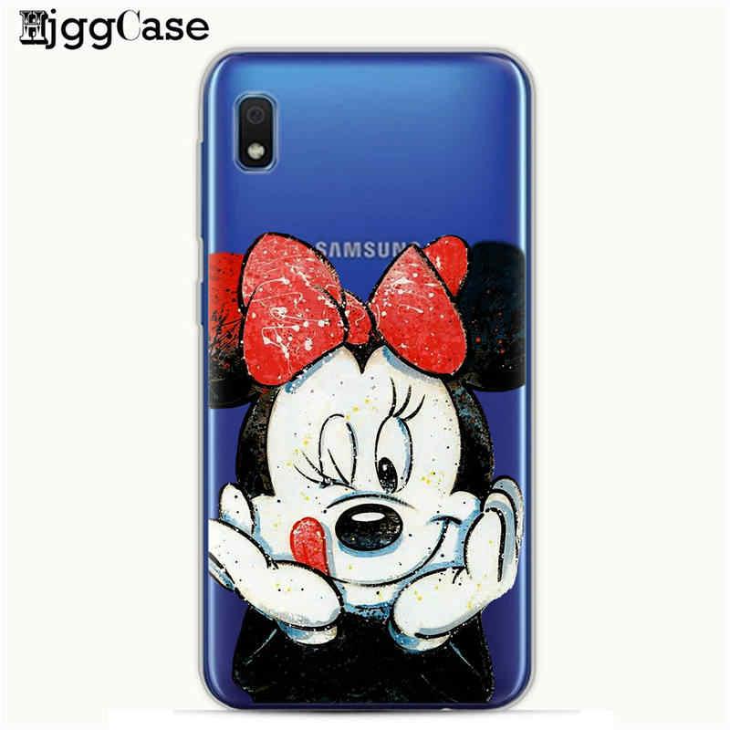 Sevimli Minnie mickey silikon kılıf Coque Samsung Galaxy A10 A30 A50 arka kapak Samsung A10 A20 A30 A40 A50 A70 dikiş Durumda