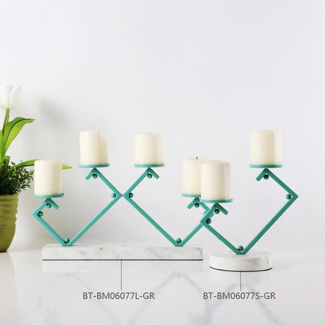 Moderne Kerzenständer macaron grünen spalte kerzenhalter metall kerzenhalter moderne