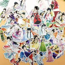 182pcs Ancient beauty Girls diary sticker Photo album decoration food adhesive stickers/ self made DIY sticker