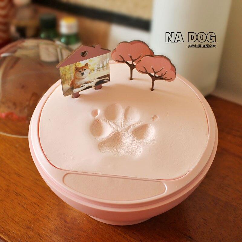 Chat chien griffe impression Pet mémorial nouvel an cadeau chat handprint main modèle Palmprint chat accessoires fournitures pour animaux de compagnie