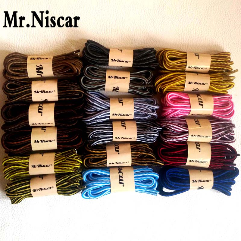 Mr.Niscar 1 Pair Fashion Brand Polyester Sneaker Shoe Laces Double Striped Top Quality Round Shoelaces 70-90-120-150cm*0.4cm 100cm flat double deck shoelaces wholesale polyester sneaker shoe lace double striped braid round shoelaces top quality