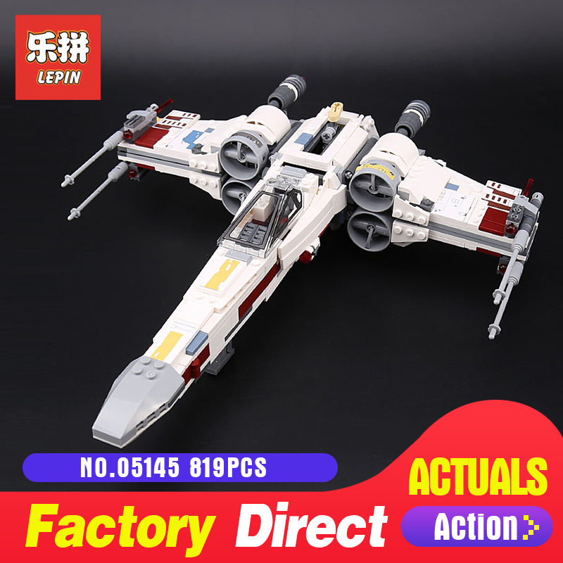 Lepin 05145 Star Series X-Wing Starfighter Blocks Bricks Compatible Legoing 75218 Building Model Gifts Assembled DIY Wars 722pcs lepin 05030 star wars vader tie advanced vs a wing starfighter 75150 building blocks compatible star wars brithday gifts