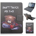 3711 PU Leather Material Stand Case with Micro USB Interface Keyboard for 7-7.9 inch Tablet PC
