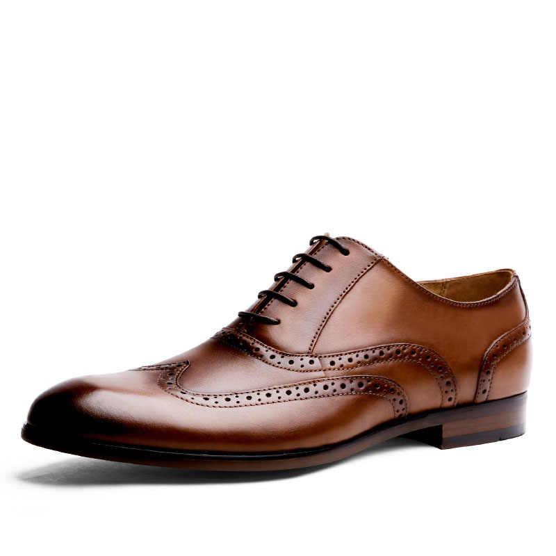 COSIDRAM/мужские кожаные модельные туфли; сезон весна-осень; Туфли-оксфорды; мужские свадебные туфли с острым носком; деловая обувь для мужчин; RMC-011