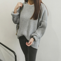 Missting Autumn Sweater O Neck Long Sleeve Loose Solid Color Women Sweaters And Pullovers A5107