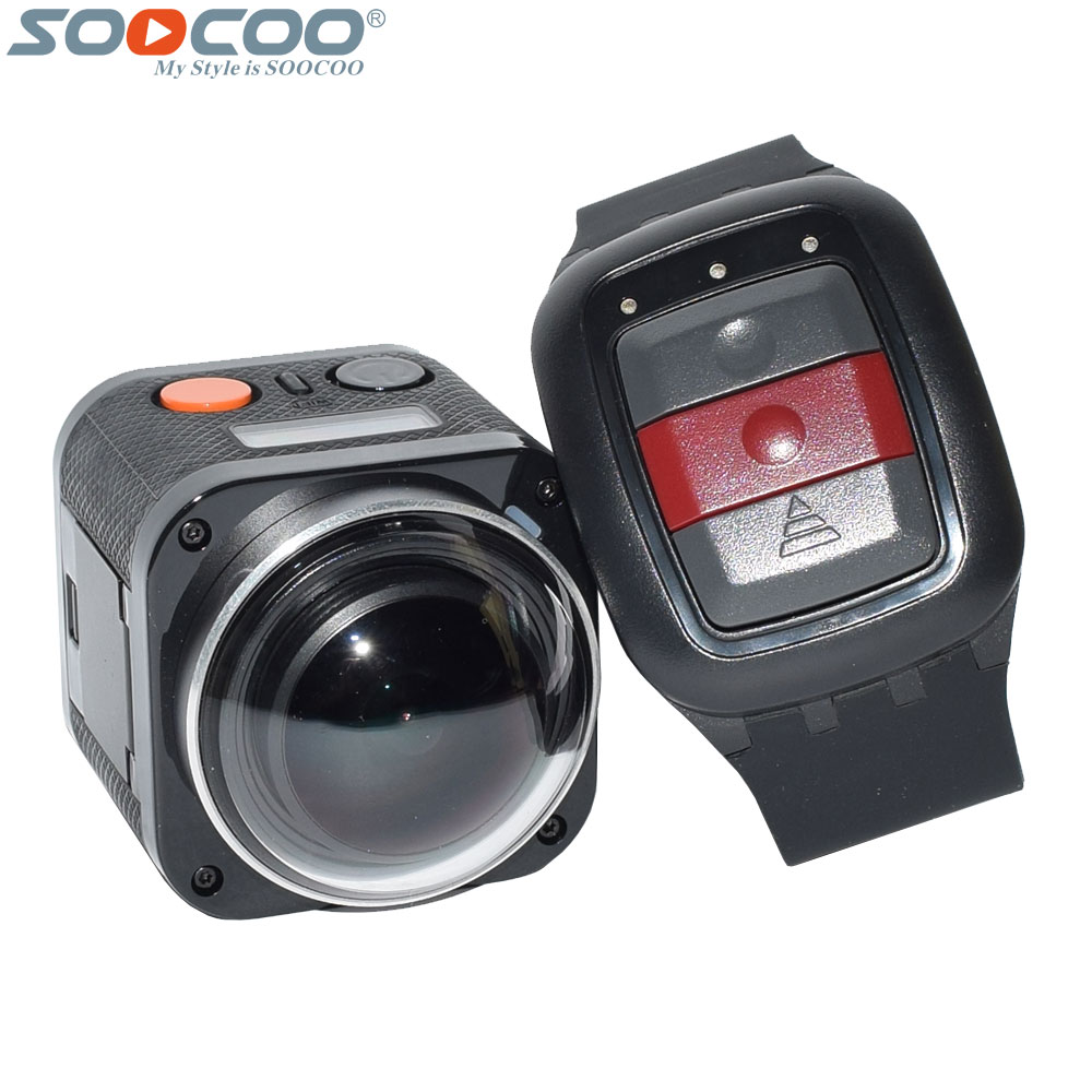 SOOCOO 360H Wifi 360 Degree Panorama VR 4K Camera 1080P 60fps Full HD LCD Screen Mini Sport Action Camera with Remote Controller soocoo cube 360h 4k wifi action camera 360 degree panorama vr camcorder 1080p 60pfs full hd mini sport dv with remote watch
