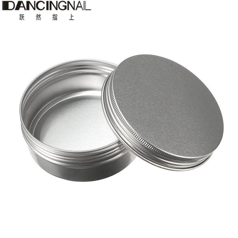 Empty Aluminum Cream Jar Tin Cosmetic Lip Balm Containers Nail Derocation Crafts Pot Bottle Screw Thread 15ml/50ml/100ml/150ml empty cosmetic containers bottle 10gram
