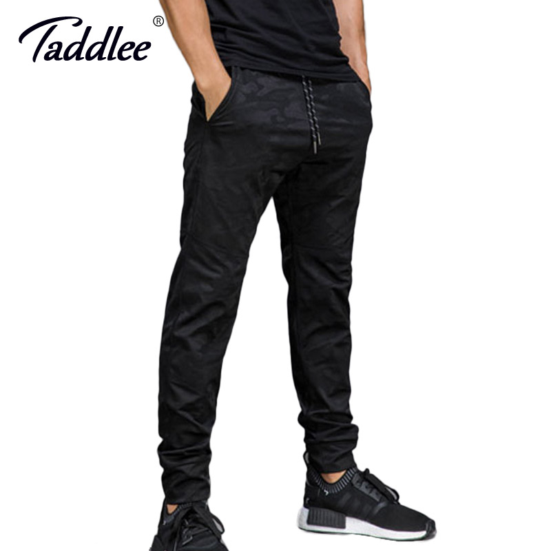 Taddlee Brand Jogger Pants Men's Active Slim Fit Basic Flat-Front Black Stylish Ankle Trousers Casual Skinny Bottoms Sweatpants