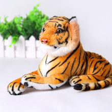 "Children""s Gift White Yellow Kawaii Cute 20 cm Tigers Plush Toys Simulation Tigers Soft Stuffed Dolls Baby Pillow Plush Kid Toy(China)"
