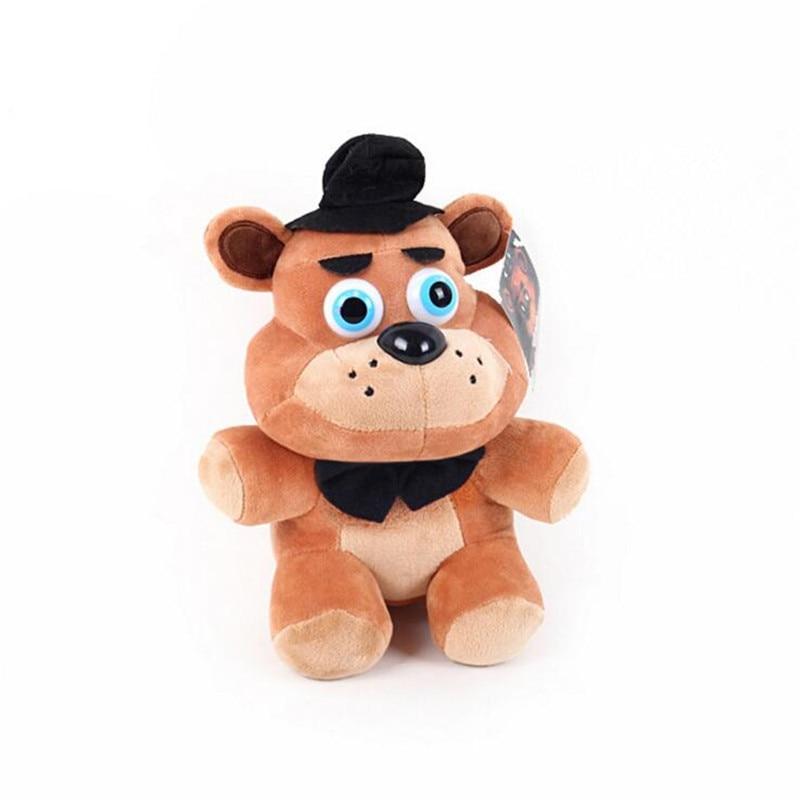 «Five nights at Freddys» плюшевые FNAF мира Фредди животных Медведь Foxy кролик ducki плюшевые Игрушечные лошадки каваи фаршированные детей Рождество gif
