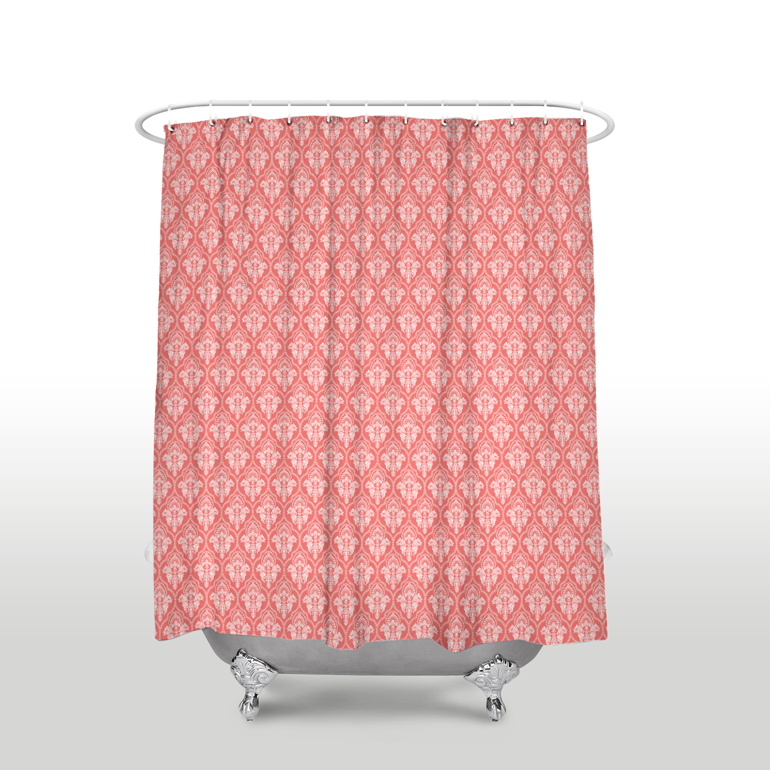 Us 16 97 45 Off New Waterproof Moroccan Design Classic Printed Shower Curtain Polyester Fabric Coral Red Bathroom Curtains For Home Decorations In