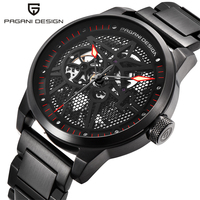 2019 PAGANI  DESIGN  Men's Classic Stainless Steel Mechanical Watches Waterproof mens watches top luxury Hollow Automatic Watch
