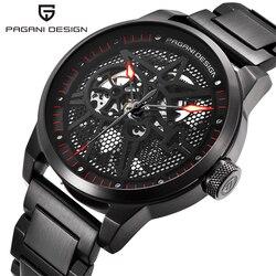 2019 PAGANI DESIGN męski klasyczny ze stali nierdzewnej mechaniczne zegarki wodoodporne męskie zegarki top luxury Hollow automatyczny zegarek