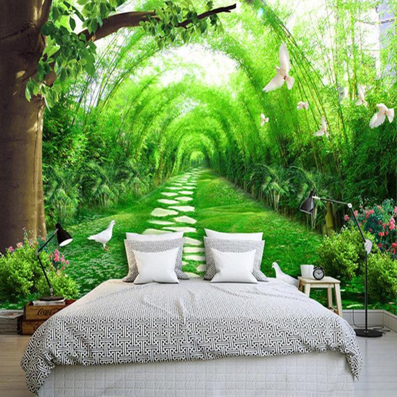 Custom 3D Wall Mural Wallpaper 3D Natural Landscape Country Lanes Wallpaper Bedroom Living Room Sofa TV Background 3D Home Decor