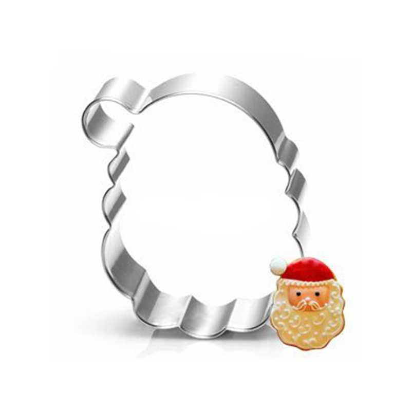 Nieuwe Kerstman Biscuit Stempel Cookie Cutter Gereedschap Speelgoed Bakkerij Keuken Bakken Gadgets Koop Kerst Rvs Bakken Tools