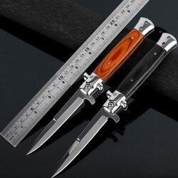 Складной нож Ножи высокой твердостью лезвия Ножи высокое Кемпинг Ножи открытый Нержавеющаясталь ножи выживания подарок черный, красный н...